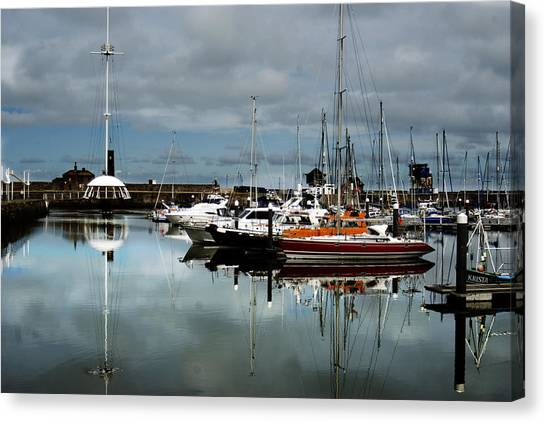 Canvas Print - Reflections In Whitehaven Harbour by Peter Jenkins