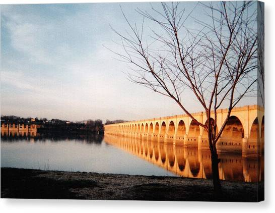 Reflections On The Susquehanna Canvas Print by Ed Golden