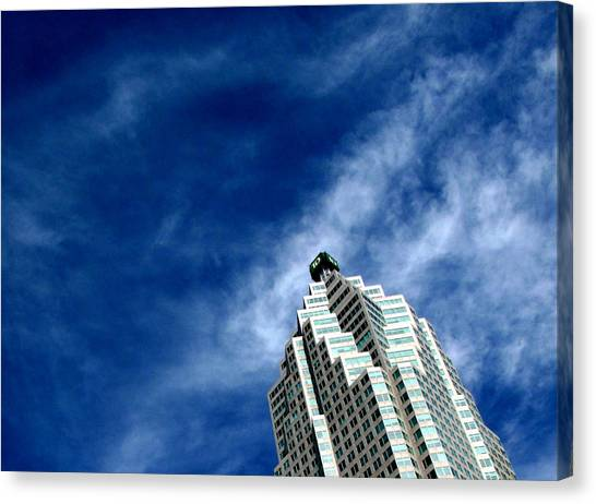 Reflections On The Tower 5  Canvas Print