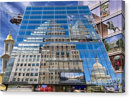 Reflections On Washington Canvas Print