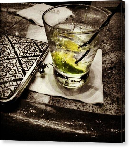 Gin Canvas Print - Refresh (#gin #tonic #colorsplash by Alicia Marie