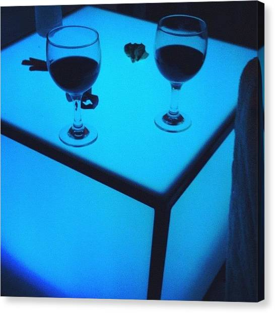 Red Wine Canvas Print - Relax by Oscar Navarro