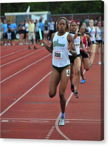 Atlantic 10 Canvas Print - Relay Winner by Mike Martin