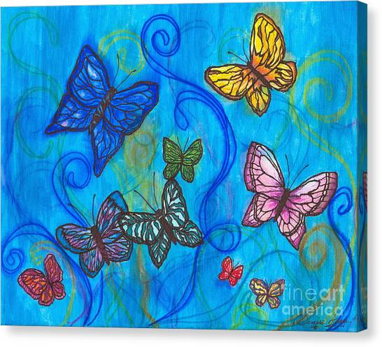 Releasing Butterflies II Canvas Print
