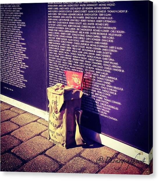Marines Canvas Print - Relica #vietnammemorial Wall In by Pete Michaud