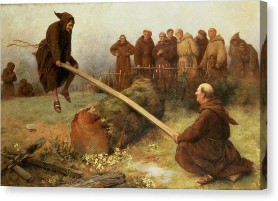 Saws Canvas Print - Religion Was Never Designed To Make Our Pleasure Less by William Strutt