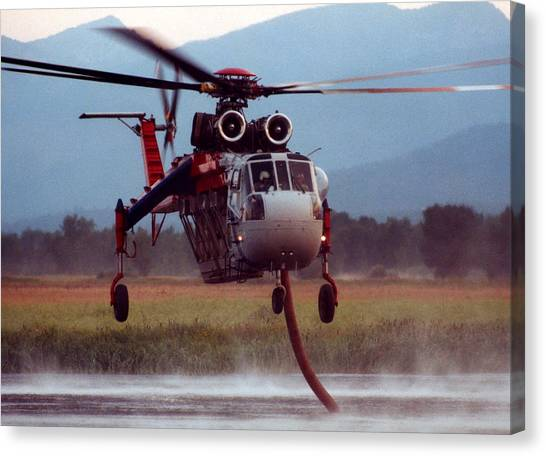Skycrane Canvas Print - Reload by Larry Robinson