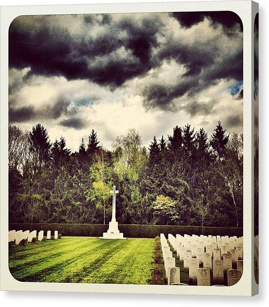 War Canvas Print - Remember Them!! They Gave Us Our by Wilbert Claessens