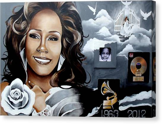 Remembering Whitney Canvas Print by Alonzo Butler
