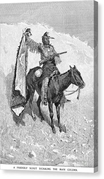 Turn Signals Canvas Print - Remington: Scout, 1891 by Granger