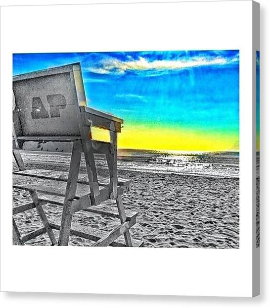 Lifeguard Canvas Print - #repost. #scenic #lifeguard #beachporn by Cassie Taylor