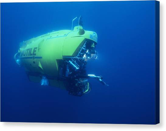 Research Submersible Canvas Print by Alexis Rosenfeld