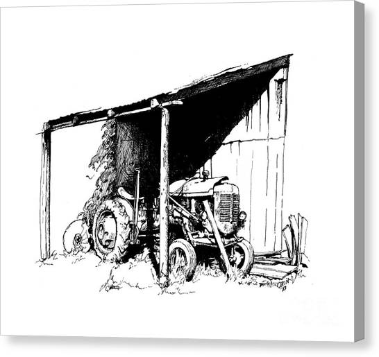 Replacement Pen And Ink Canvas Print by Steve Orin