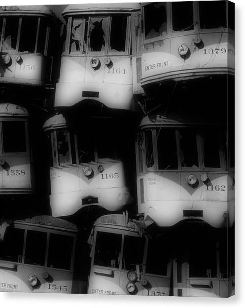 Retired Streetcars Canvas Print