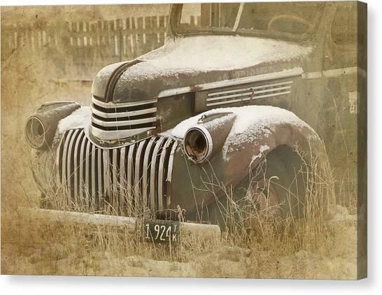 Retired Truck Circa 1924 Canvas Print