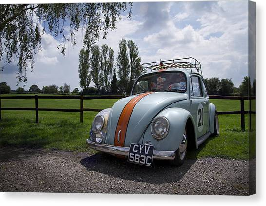 Retro Beetle 1 Canvas Print by Dan Livingstone