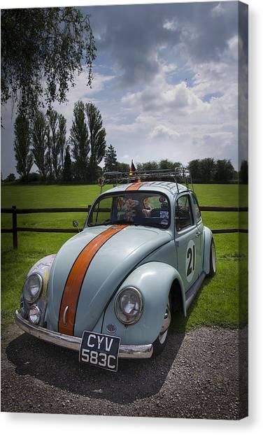 Retro Beetle 4 Canvas Print by Dan Livingstone