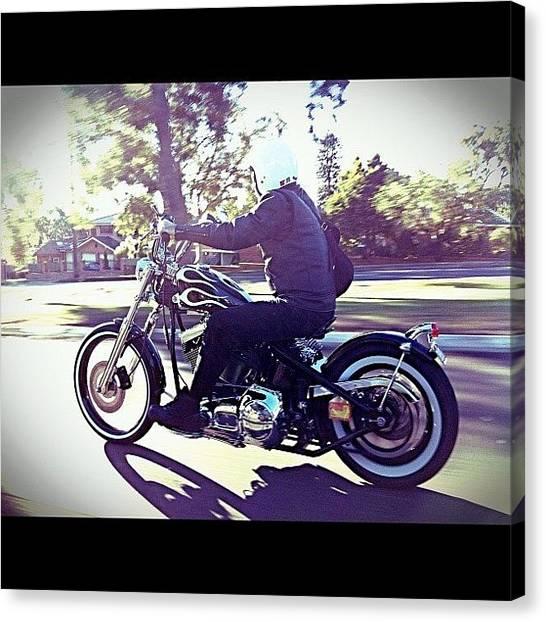 Harley Davidson Canvas Print - Retro New. #dailylife #ig #instagram by Matthew Vasilescu