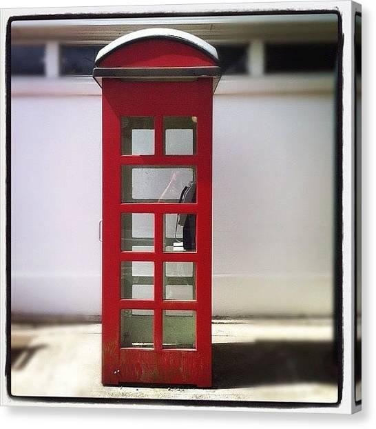 Australian Canvas Print - Retro Telephone Box by Brent McGilvary