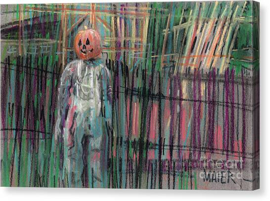 Scarecrows Canvas Print - Return Of Pumpkinhead Man by Donald Maier