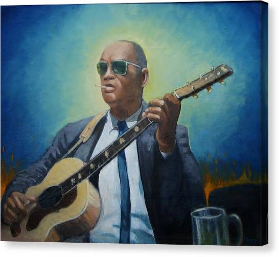 Rev. Gary Davis Canvas Print by Mark Haley