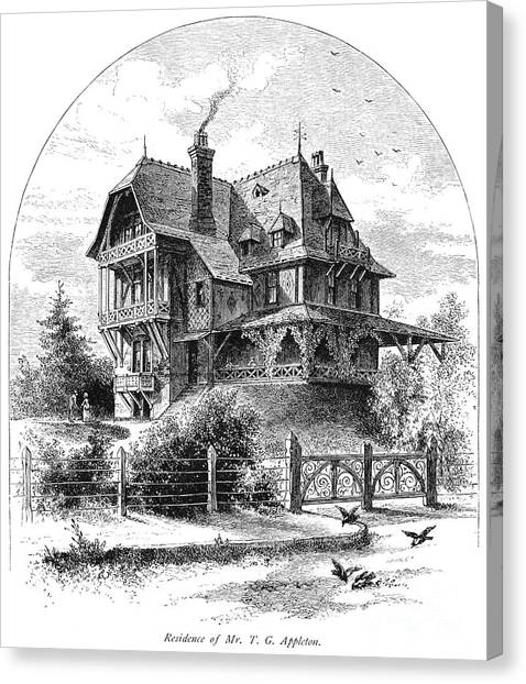 Appleton Canvas Print - Rhode Island: Villa, 1876 by Granger