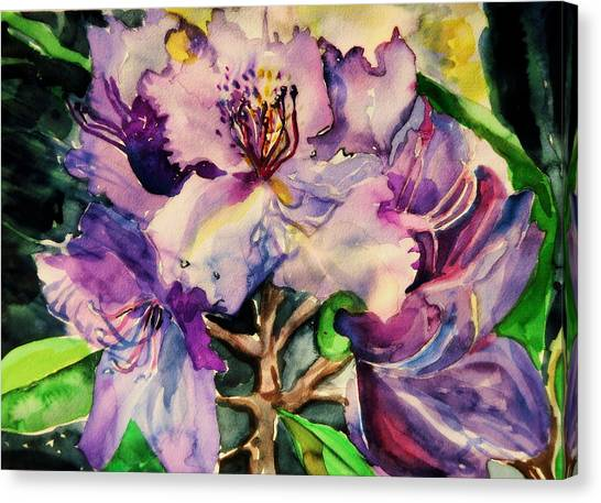 Lavendar Canvas Print - Rhododendron Violet by Mindy Newman