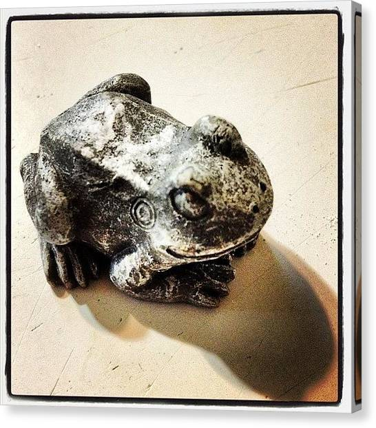 Frogs Canvas Print - Ribbit by Ken Powers