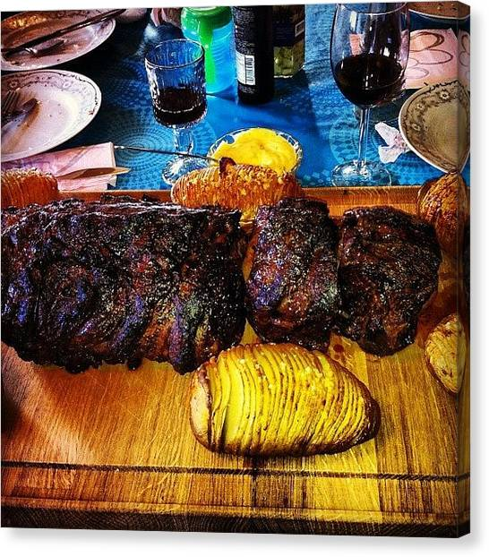 Ribeye Canvas Print - #ribeye #medium by Finnur Magnusson