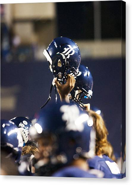 Conference Usa Canvas Print - Rice Football Helmets  by Anthony Vasser