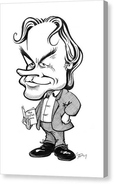 Atheism Canvas Print - Richard Dawkins, British Science Writer by Gary Brown
