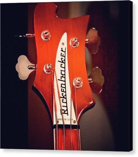 Bass Guitars Canvas Print - #rickenbacker #4strings #guitar #bass by Toonster The Bold