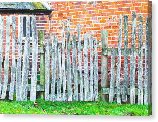 Border Wall Canvas Print - Rickety Fence by Tom Gowanlock