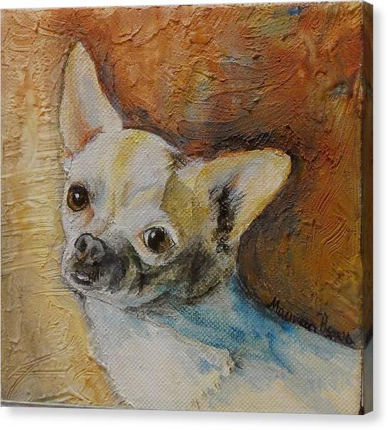 Rico Blue Chihuahua Canvas Print