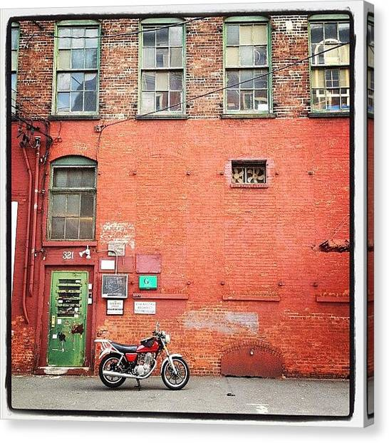Warehouses Canvas Print - Ride Away by Adam Schreiber