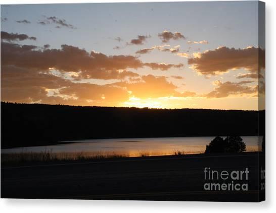 Ridgway Reservoir Sunset Canvas Print