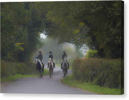 Riding In Tandem Canvas Print