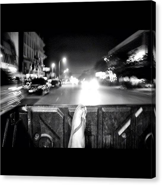 Hot Dogs Canvas Print - Riding In The Back Of A Ute... Great by Kevin Pan