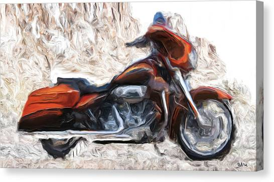 Riding In The Snow Canvas Print by Wayne Bonney
