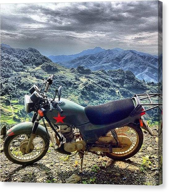 Vietnamese Canvas Print - #riding #solo #sapa #vietnam by Universal Traveller