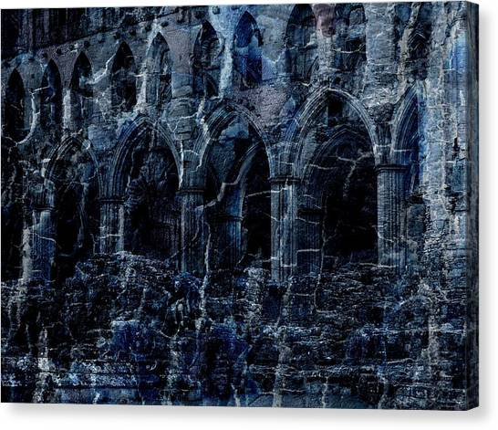 Rievaulx In The Crack Of Night Canvas Print by Jen White