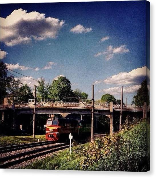 Trainspotting Canvas Print - #riga #architecture #railway #rails by Silvestrs Usins