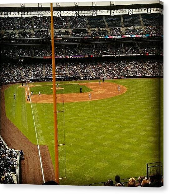 Baseball Teams Canvas Print - Right Field by The Ambs
