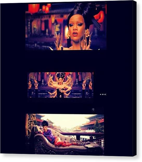 Rihanna Canvas Print - #rihanna And #coldplay New Song by Joseph Stowers