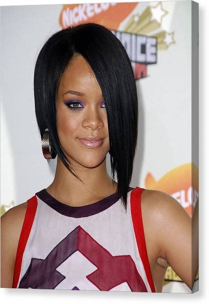 Rihanna Canvas Print - Rihanna At Arrivals For 2007 by Everett