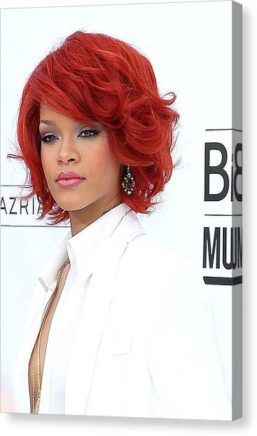 Rihanna Canvas Print - Rihanna At Arrivals For 2011 Billboard by Everett