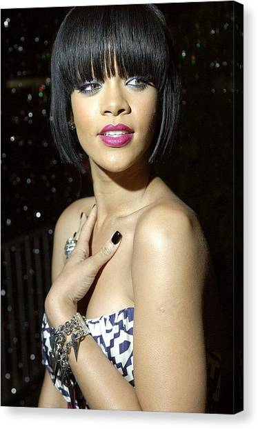 Rihanna Canvas Print - Rihanna At Arrivals For Jay-z And Giant by Everett