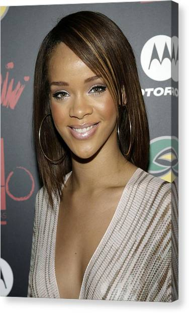 Jay Z Canvas Print - Rihanna At Arrivals For Jay-z by Everett