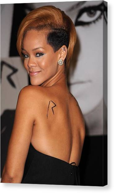 Rihanna Canvas Print - Rihanna At In-store Appearance by Everett