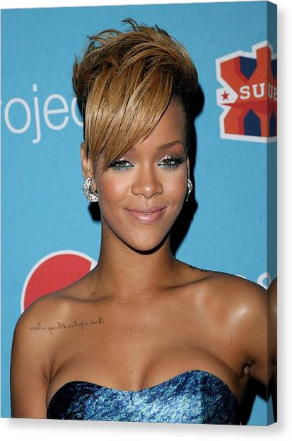 Rihanna Canvas Print - Rihanna In Attendance For Pepsi Refresh by Everett